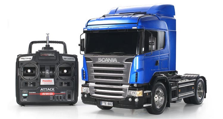 کامیون کنترلی اسباب بازی اسکانیا رنگ آبی