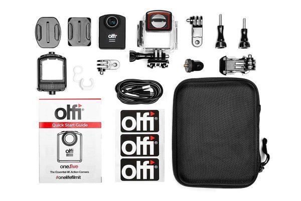 اقلام همراه دوربین اکشن کرا برند اولفی مدل یک پنج 600x400 دوربین ورزشی  OLFI ONE FIVE BLACK