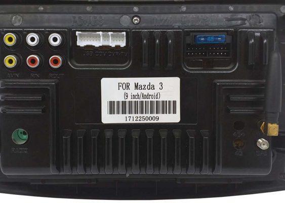 جزئیات پشت دستگاه مولتی مدیا اندروید مزدا 3 نیو 563x400 مانیتور مزدا 3 نیو | مشخصات فنی، انتخاب و خرید مانیتور ماشین