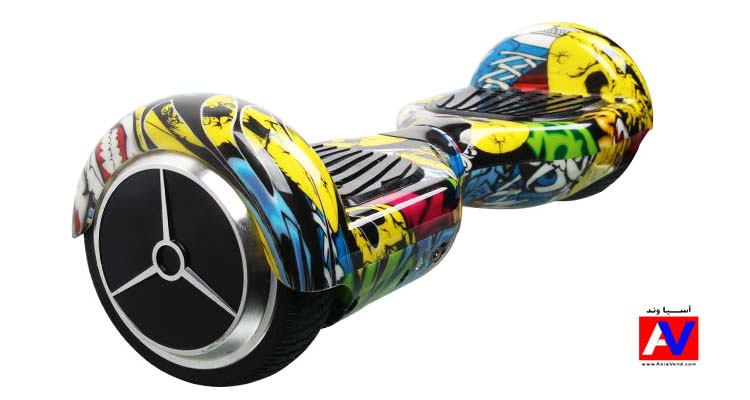 yellow graffiti 6.5 inch smart balance wheel