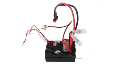 یک عدد گیرنده رادیویی اسباب بازی ماشین کنترلی دیلیو ال تویز رنگ سیاه و سیک قرمز و مشکی