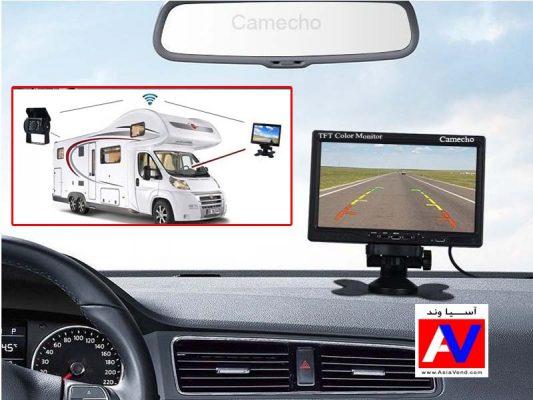 خرید دوربین وایرلس خودرو همراه با مانیتور برند کامیکو 533x400 دوربین دنده عقب بی سیم Camecho