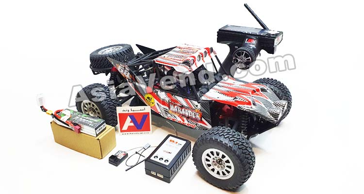 a red off-road Rc car toy