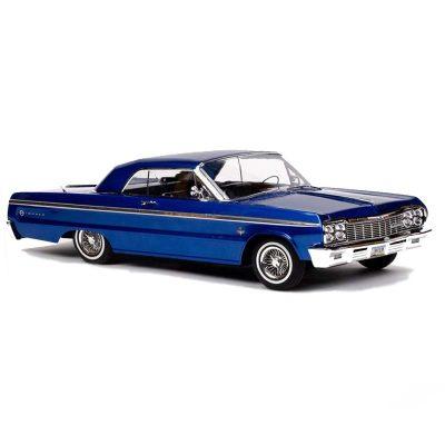 خرید ماشین کنترلی آمریکایی شارژی لورایدر ایمپالا 1964 آبی متالیک