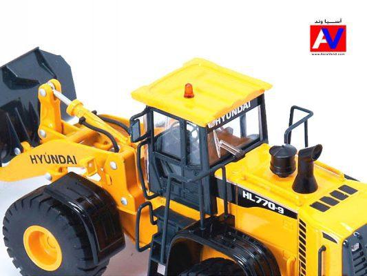 خرید ماکت اسباب بازی ماشین راهسازی لودر هیوندای 533x400 ماکت ماشین راهسازی لودر HL770 9