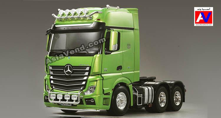 ماشین سنگین کامیون بنز آکتروس کنترلی بزرگ سبز زیبا