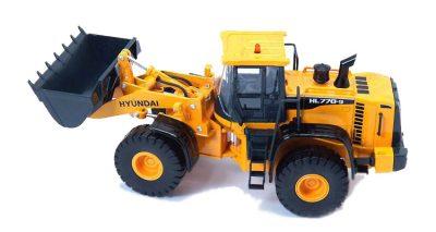 ماکت فلزی ماشین راهسازی اسباب بازی هیوندای HYUNDAI HL770-9 مشخصات و قیمت زرد رنگ زیبا و بزرگ