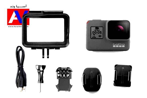 محتویات جعبه هیرو 5 600x400 دوربین ورزشی گوپرو Hero5 Black