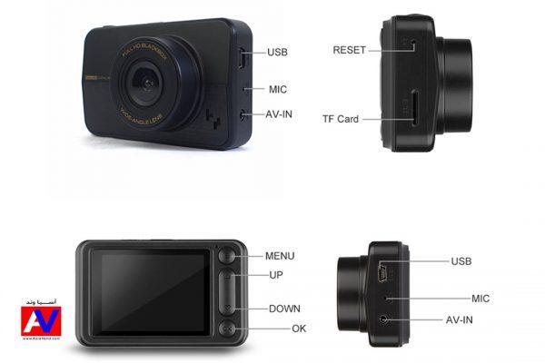 مشخصات فنی و اتصالات دوربین امنیتی ثبت وقایع جلو خودرو کد 102 600x400 دشکم کد 102
