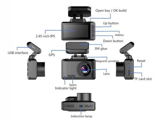 مشخصات Dash Camera 533x400 دش کمرا کیفیت 4K