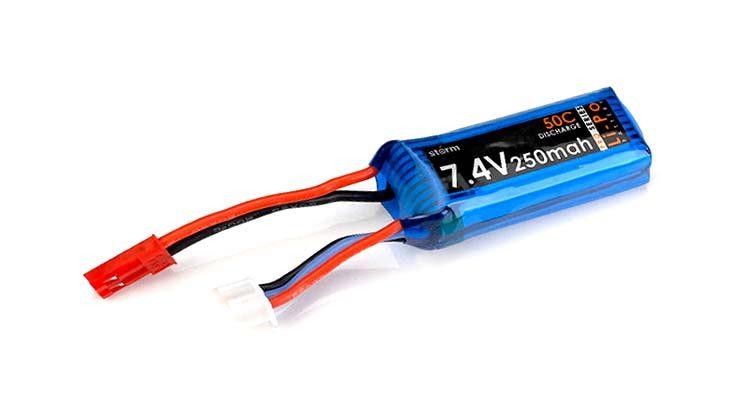 باتری لیتیوم پلیمر 250 میلی آمپر 7.4 ولت
