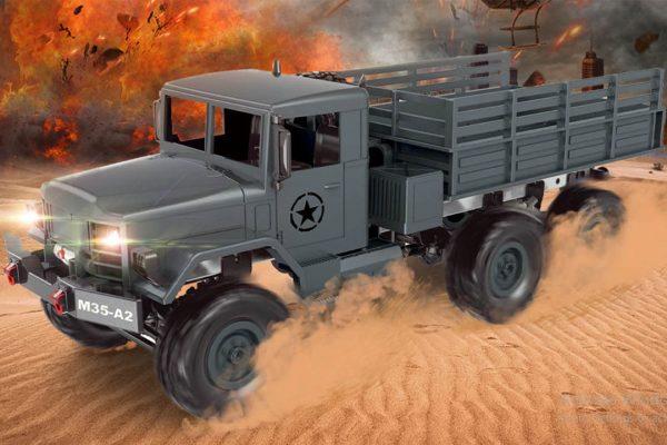 کامیون نظامی رادیو کنترلی آرسی 600x400 کامیون اسباب بازی کنترلی M35