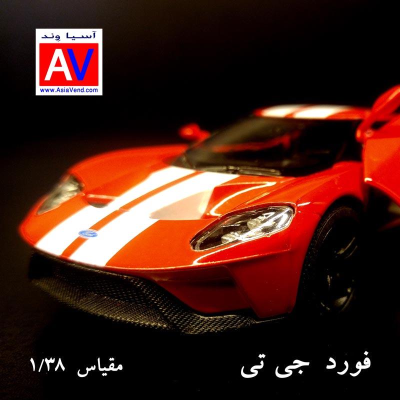 عکس ماشین ماکت ماشین فلزی فورد مقیاس 1/32 رنگ قرمز Ford GT Model Car