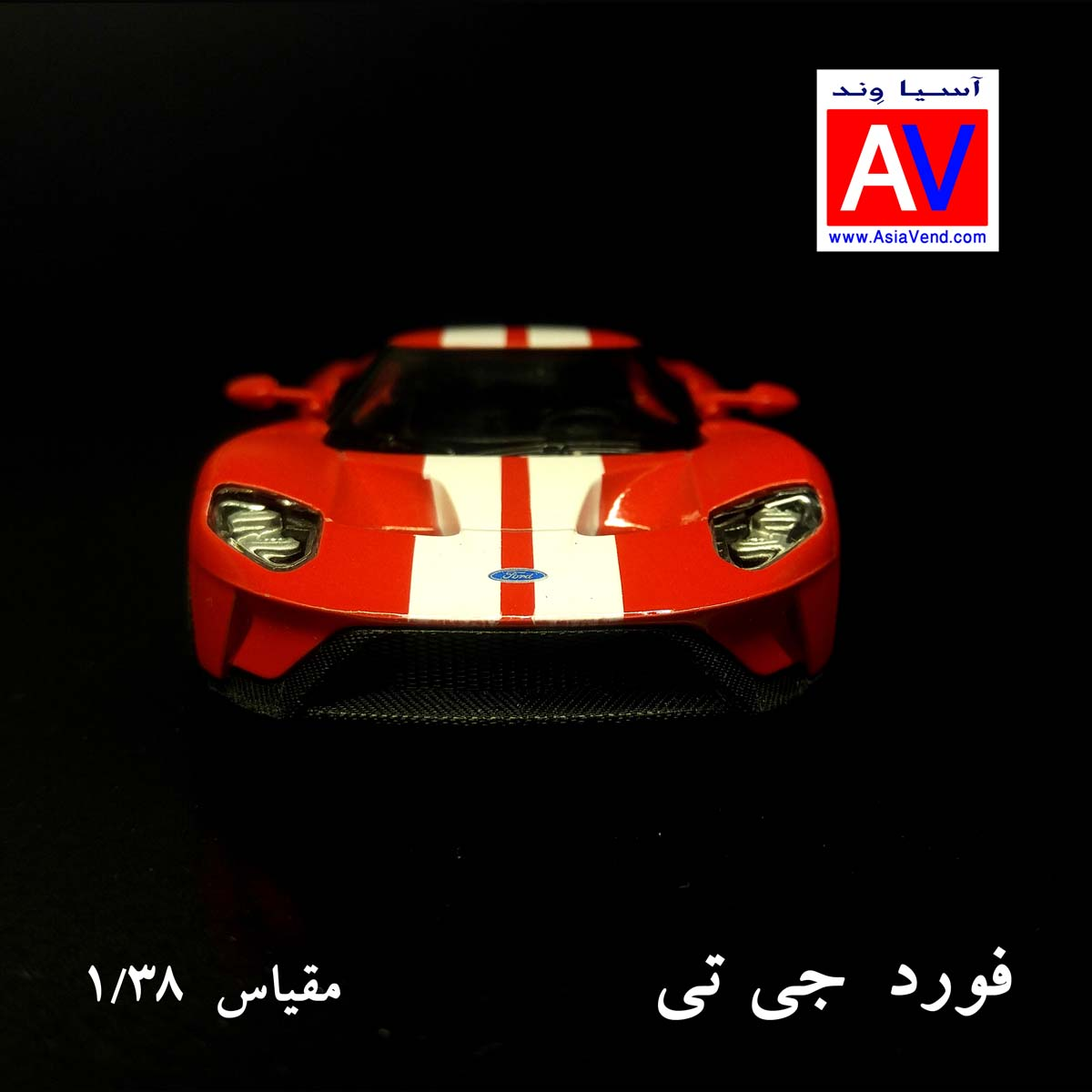 فروش ماکت شیراز خرید ارزان ماکت ماشین فلزی فورد مقیاس 1/32 رنگ قرمز Ford GT Model Car