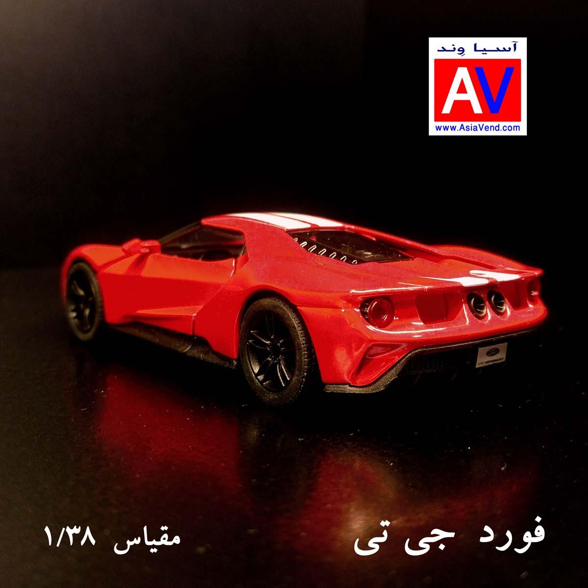 فورد جی تی ماکت ماشین فلزی فورد مقیاس 1/32 رنگ قرمز Ford GT Model Car