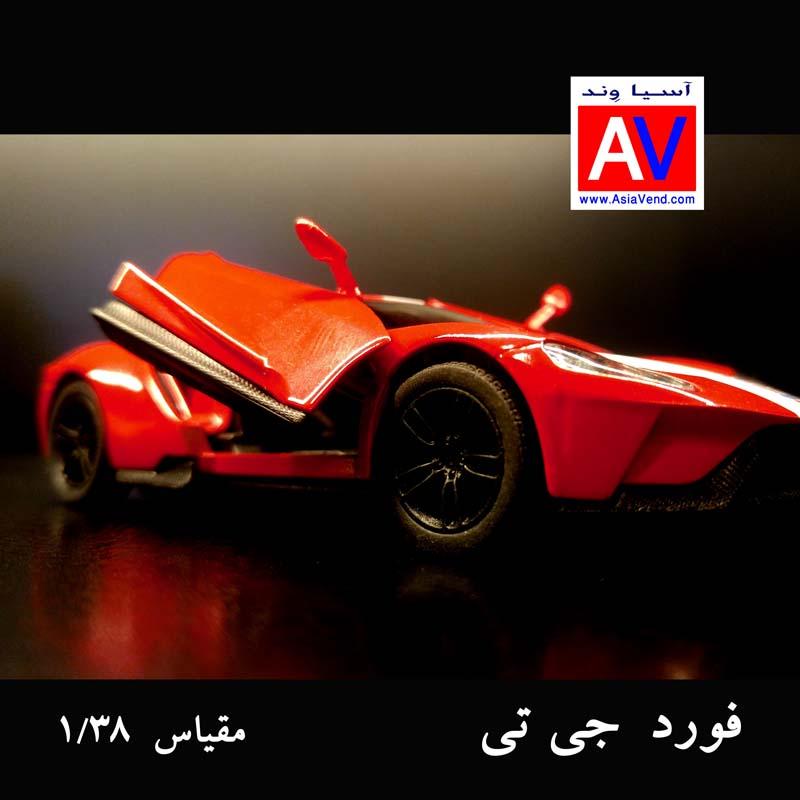 ماکت آسیاوند 1 ماکت ماشین فلزی فورد مقیاس 1/32 رنگ قرمز Ford GT Model Car