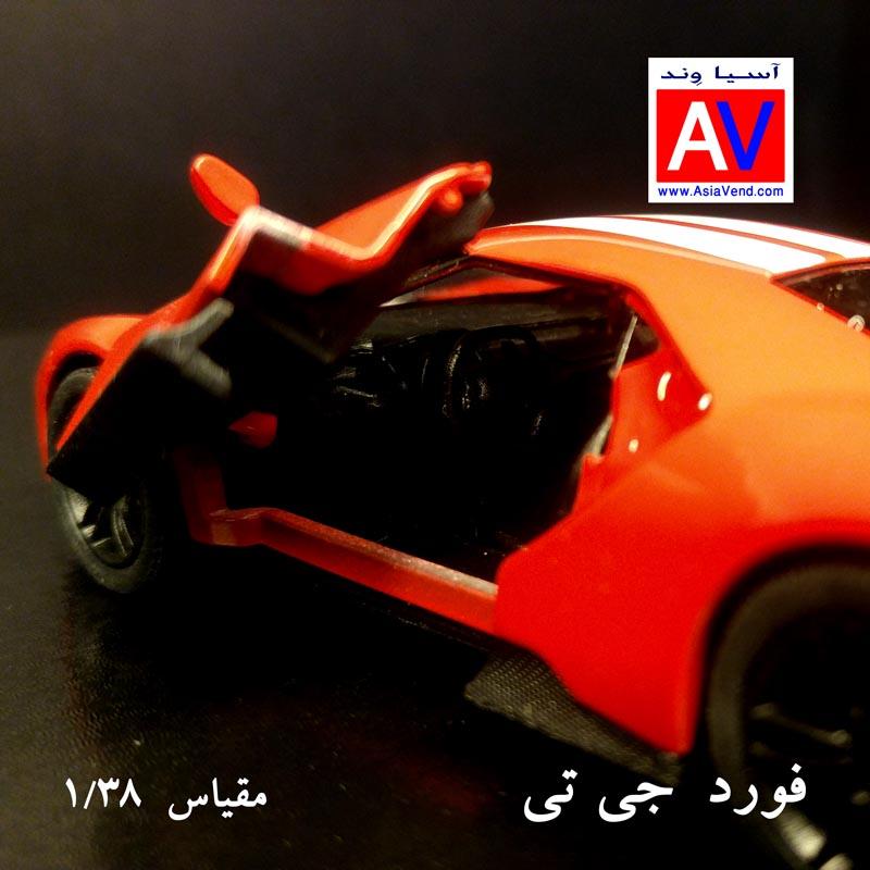 ماکت فروشی ماکت ماشین فلزی فورد مقیاس 1/32 رنگ قرمز Ford GT Model Car