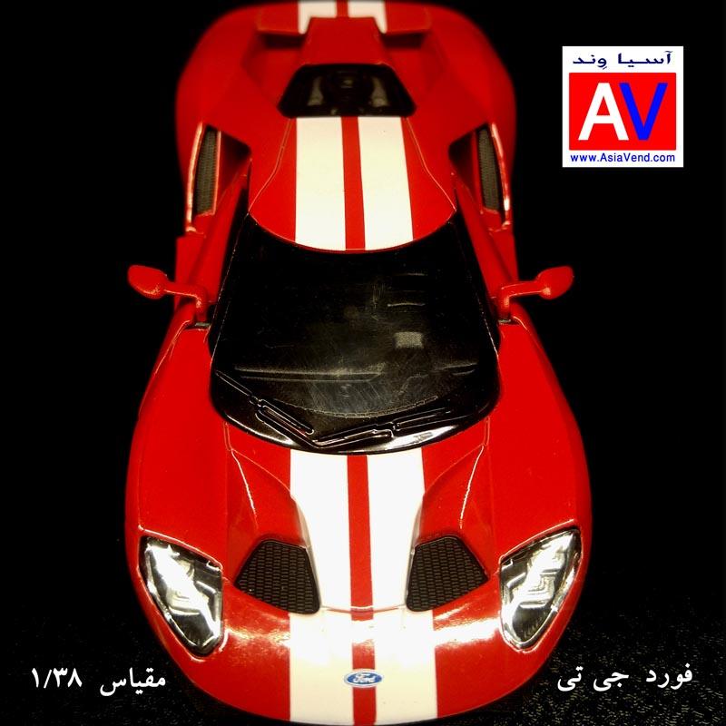 ماکت ماشین فورد جی تی خودرو ماکت ماشین فلزی فورد مقیاس 1/32 رنگ قرمز Ford GT Model Car