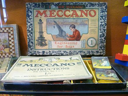 440px Meccano Set Edinburgh Museum of Childhood ماکت ماشین آمریکایی SHELBY GT 1967