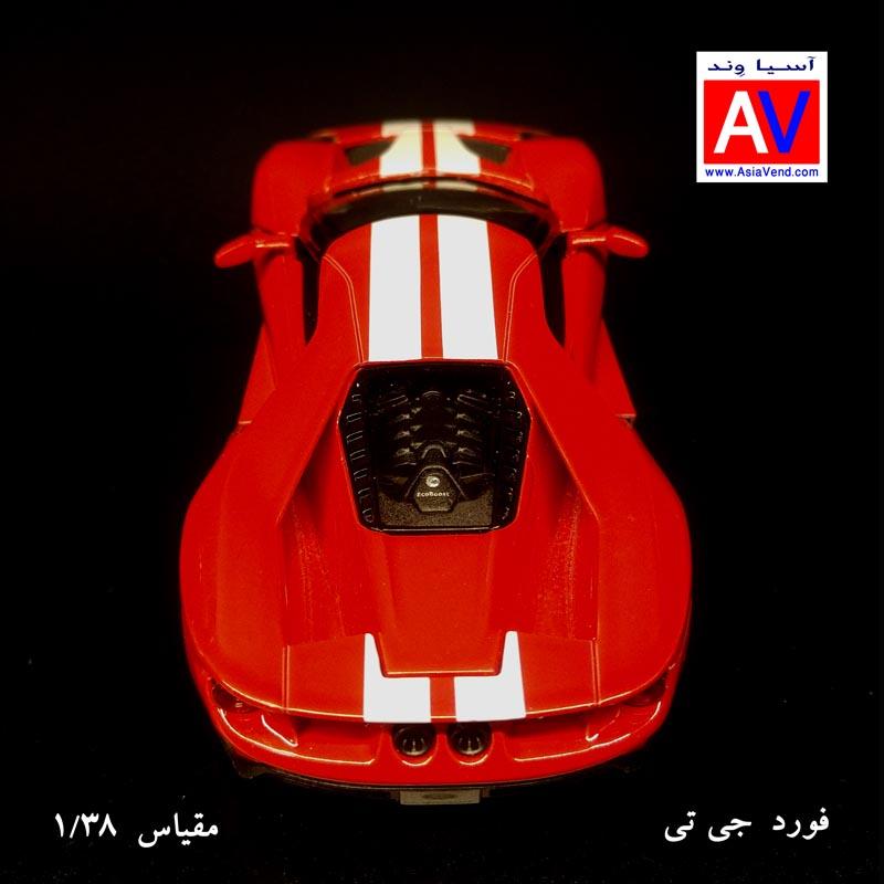 GT Ford scale Car ماکت ماشین فلزی فورد مقیاس 1/32 رنگ قرمز Ford GT Model Car