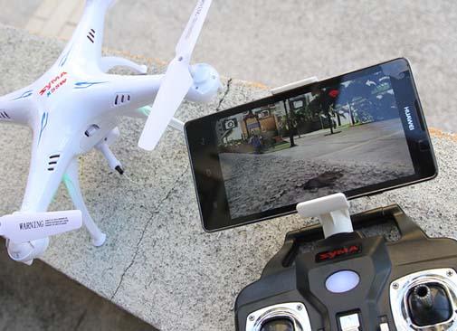دوربین انتقال تصویر همزمان پهپاد کوادکوپتر سایما X5SW