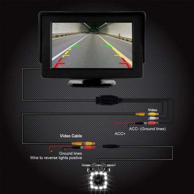 دوربین دنده عقب کیفیت اچ دی CoolWoo 4 400x400 دوربین دنده عقب ماشین اچ دی CoolWoo