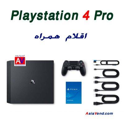 اقلام همراه کنسول بازی سونی Sony Playstation 4 pro 400x400 کنسول بازی سونی مدل Playstation 4 Pro ریجن 2 کد CUH 7116B ظرفیت 1TB