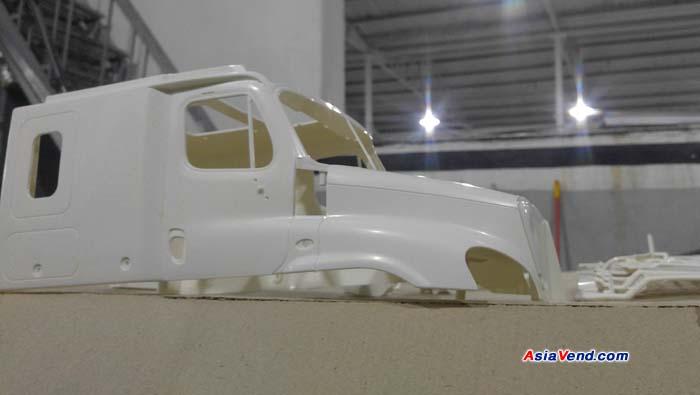 ساخت و رنگ آمیزی ماکت ماشین سنگین و کشنده تامیا کاسکادیا Tamiya Cascadia preparing to Paint کامیون کنترلی مدل Tamiya Cascadia Evolution