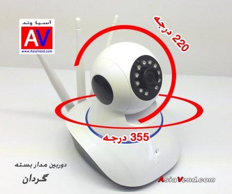 دوربین مدار بسته گردان 477x400 دوربین مدار بسته بیسیم تحت شبکه IP HD Camera