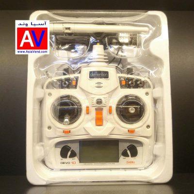 خرید فرستنده رادیویی و گیرنده هواپیما پهپاد کواد کوپتر و پهپاد 400x400 خرید رادیو کنترل ده کانال Walkera Devo 10ch Transmitter