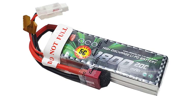 Gens ace 1800mAh 2S LiPo Battery باتری ماشین کنترلی